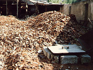 Briar scraps used for fires to boil out sap